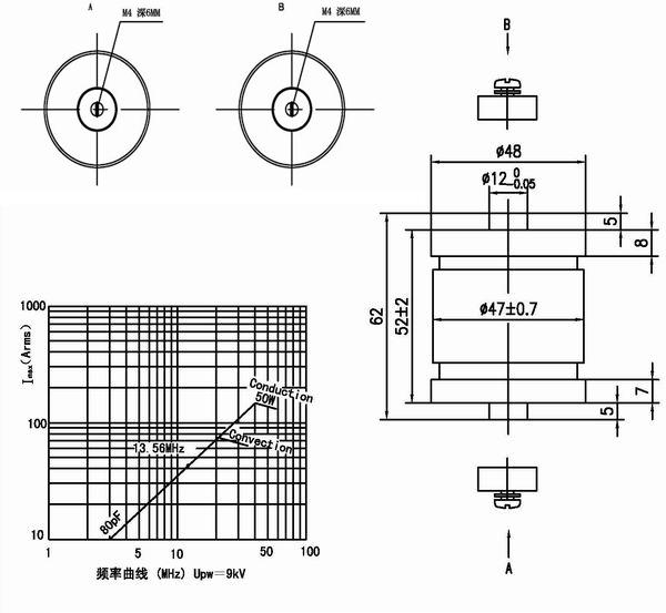 固定真空电容器CKT80/10/43 CFMN-80CAC/15-AF-G MC1C-80E/15