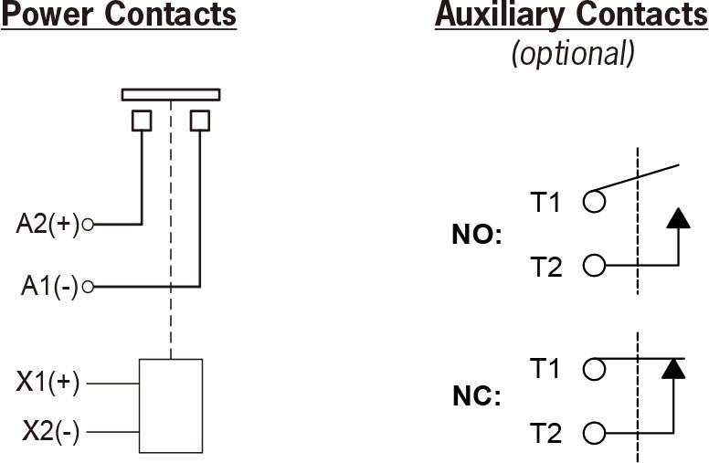 高压直流接触器hx21接线图